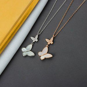 Jewelry - 925 Sterling Silver Butterfly Charm Necklace